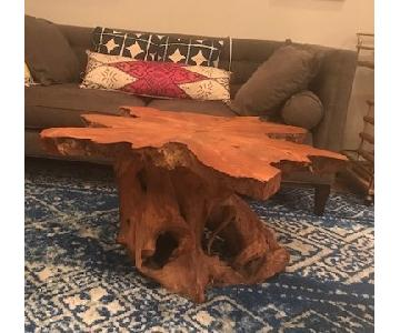 ABC Carpet and Home Live Edge Tree Trunk Coffee Table