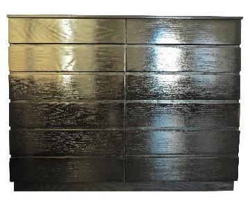 12-Drawer Custom Made Black Dresser