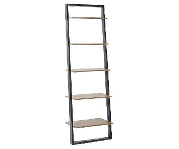 West Elm Cappuccino Ladder Bookcase w/ 5 Shelves