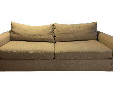 Crate & Barrel Natural Tweed Sleeper Sofa