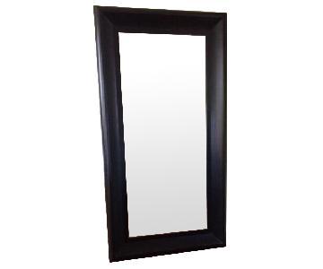 Ballard Designs Black Beveled Floor Mirror