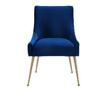 TOV Furniture Beatrix Blue Velvet Chair