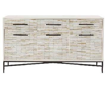 West Elm Wood Tiled Buffet/Credenza