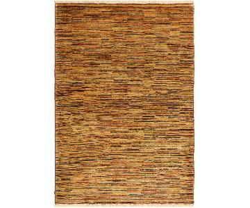 Arshs Fine Rugs Gabbeh Iola Tan/Brown Wool Area Rug