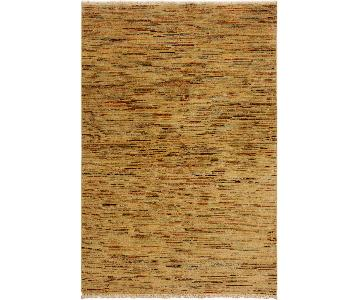 Arshs Fine Rugs Gabbeh Bennie Tan/Rust Wool Area Rug