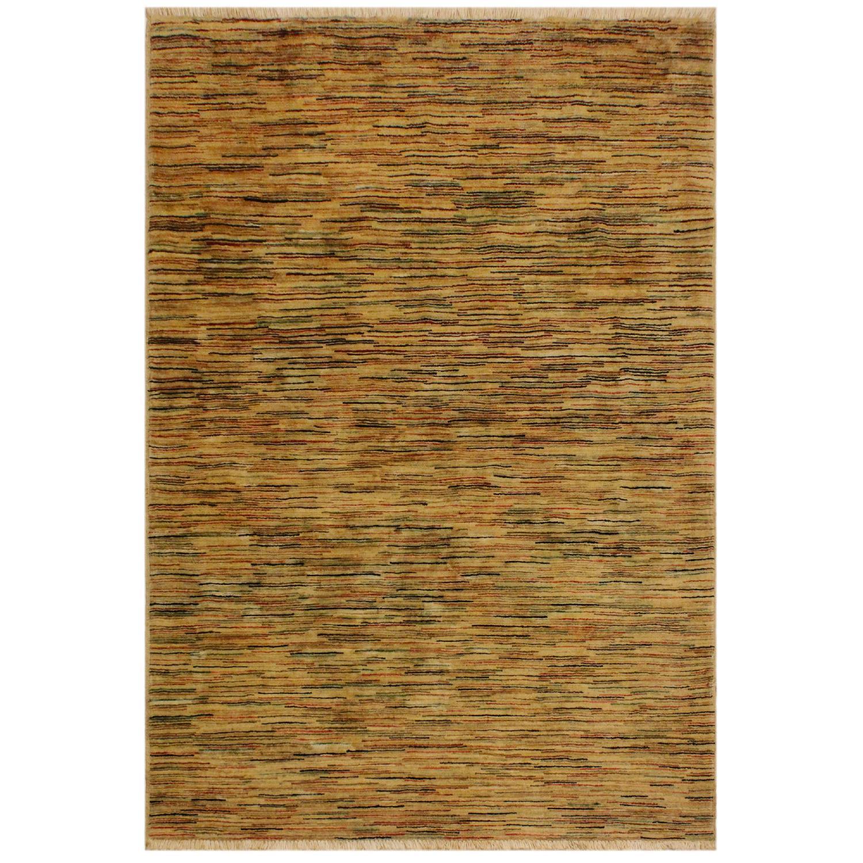 Arshs Fine Rugs Gabbeh Belle Tan/Multi Wool Area Rug