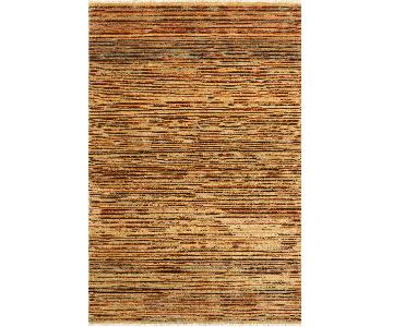 Arshs Fine Rugs Gabbeh Elida Tan/Brown Wool Area Rug