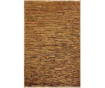 Arshs Fine Rugs Gabbeh Birdie Tan/Rust Wool Area Rug