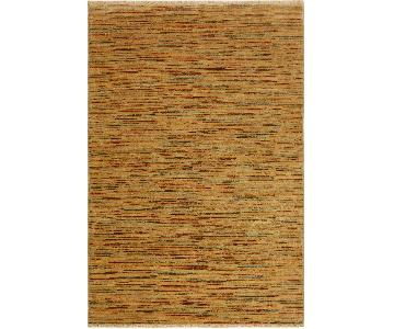 Arshs Fine Rugs Gabbeh Wilhelmi Tan/Rust Wool Area Rug