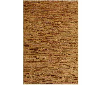 Arshs Fine Rugs Gabbeh Rosalee Tan/Brown Wool Area Rug