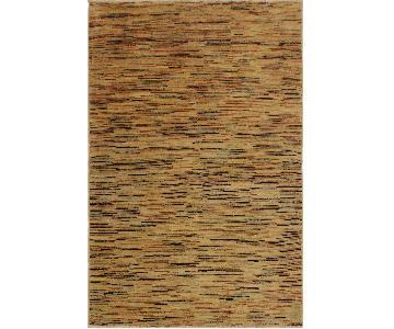 Arshs Fine Rugs Gabbeh Maurine Tan/Black Wool Area Rug