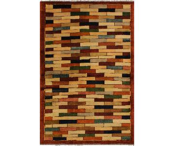 Arshs Fine Rugs Gabbeh Brianne Rust/Green Wool Area Rug