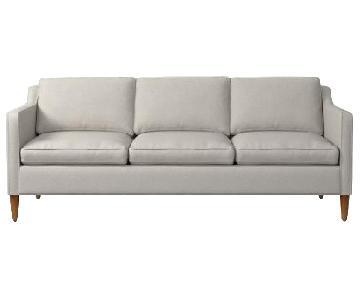 West Elm Hamilton Dove Grey 3-Seater Sofa