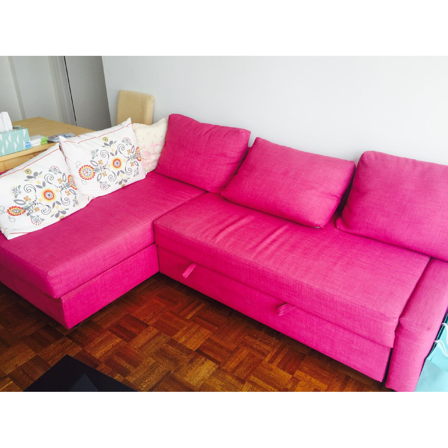 ... Ikea Friheten Pink Sleeper Sectional Sofa 2 ...