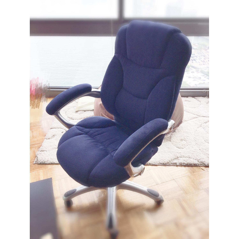 ... Flash Furniture Navy Blue Microfiber Office Chair 0 ...