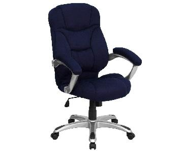 Flash Furniture Navy Blue Microfiber Office Chair