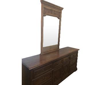 Walnut Dresser w/ Mirror