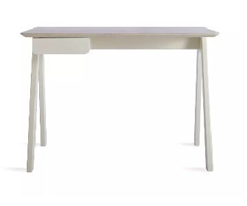 Blu Dot Stash Desk in White Ash/White