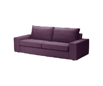 Ikea Kivik Dansbo Purple Red-Lilac Sofa