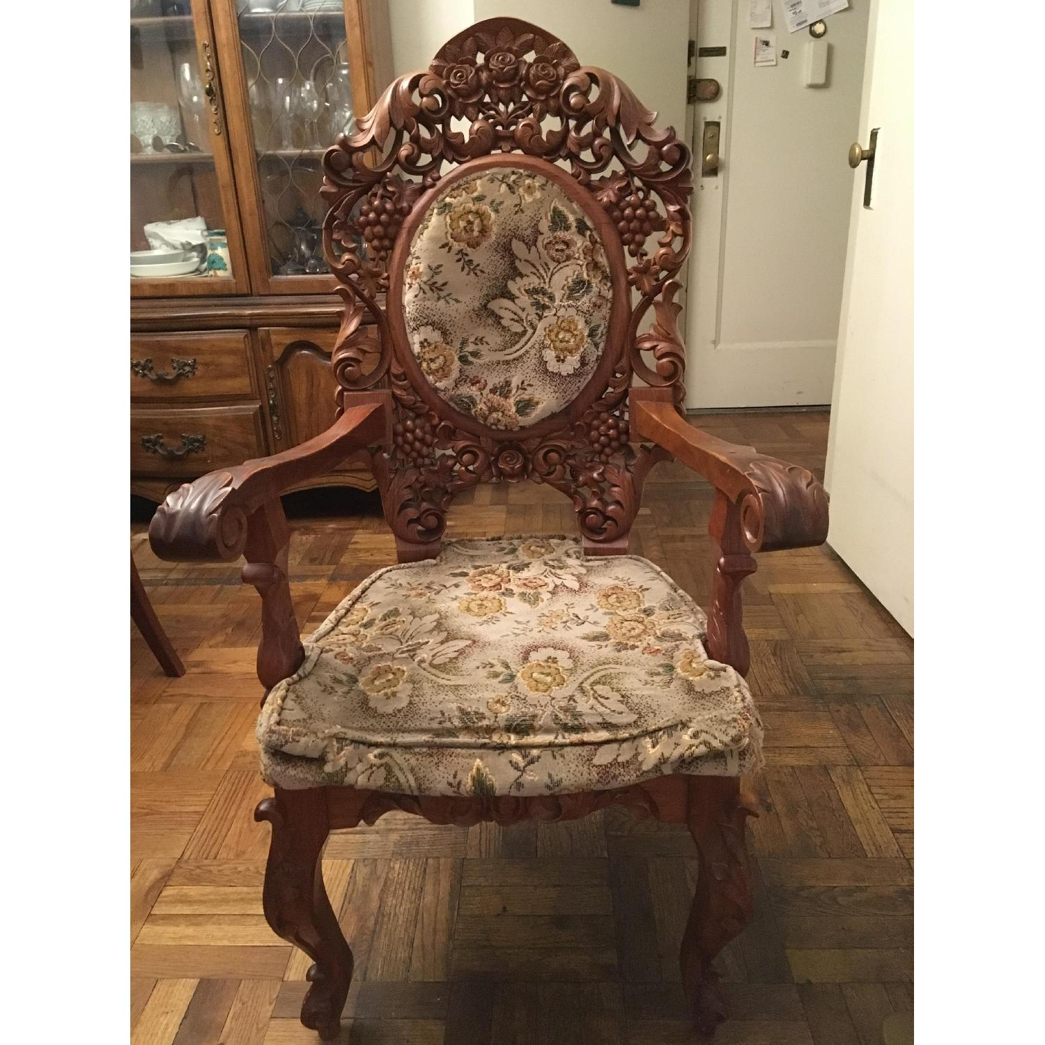 Custom Carved Wood Accent Chairs ...