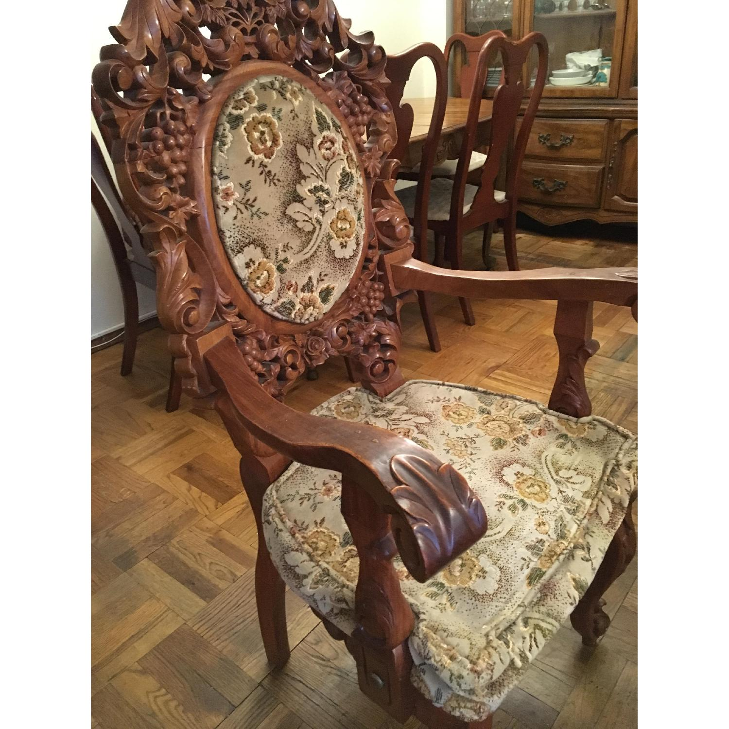... Custom Carved Wood Accent Chairs 2 ...