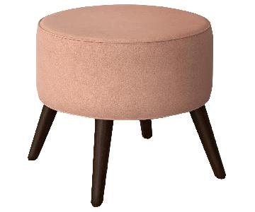 Target Riverplace Round Ottomans in Blush Pink