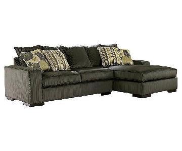 Ashley Freestyle Pewter Sectional Sofa