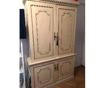 Antique Shabby Chic Armoire