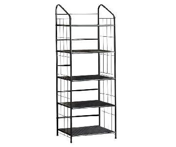 Coaster Black Metal 5-Tier Bookshelf