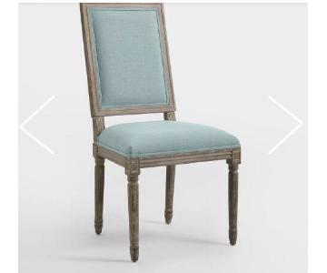 World Market Square Back Blue Paige Dining Chairs