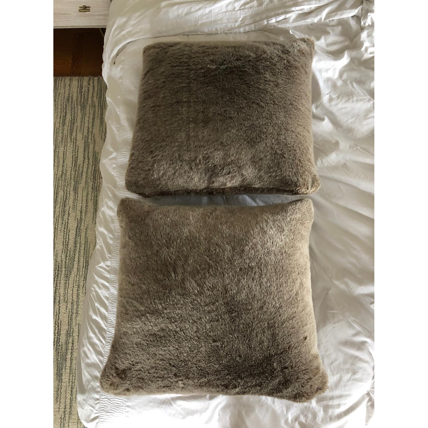 Restoration Hardware Faux Fur Throw Pillows