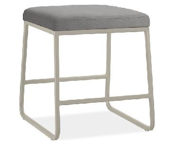 Room & Board Collins Low Stool in Canvas Fabric