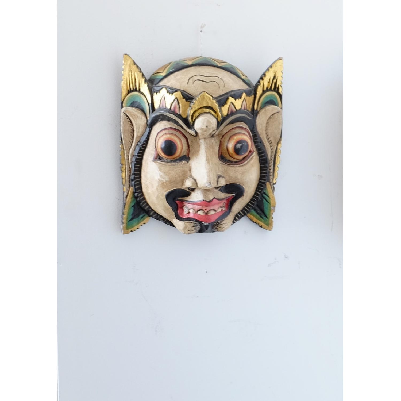 Vintage Wooden Barong Asian Mask-1