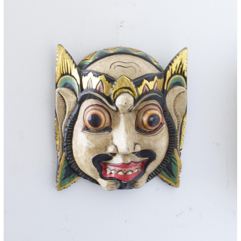 Vintage Wooden Barong Asian Mask-2
