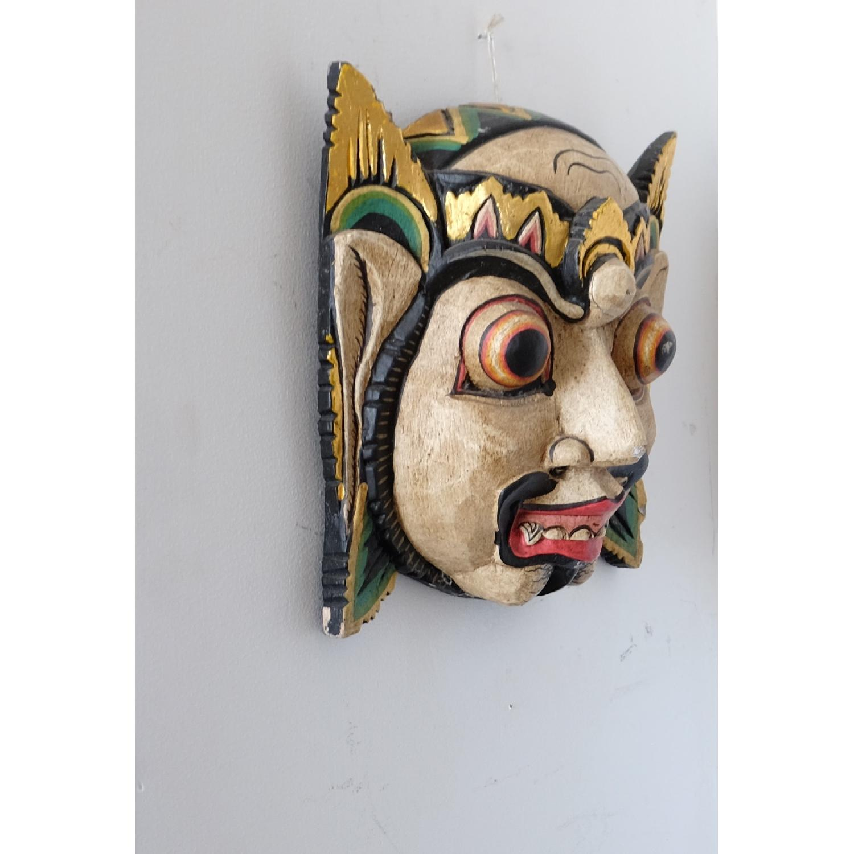 Vintage Wooden Barong Asian Mask-3