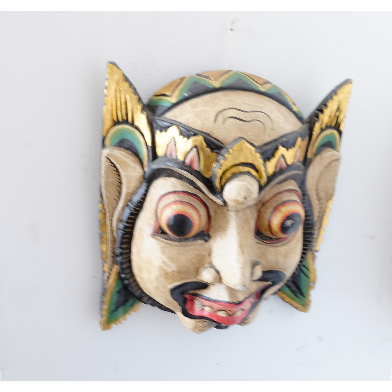 Vintage Wooden Barong Asian Mask-4