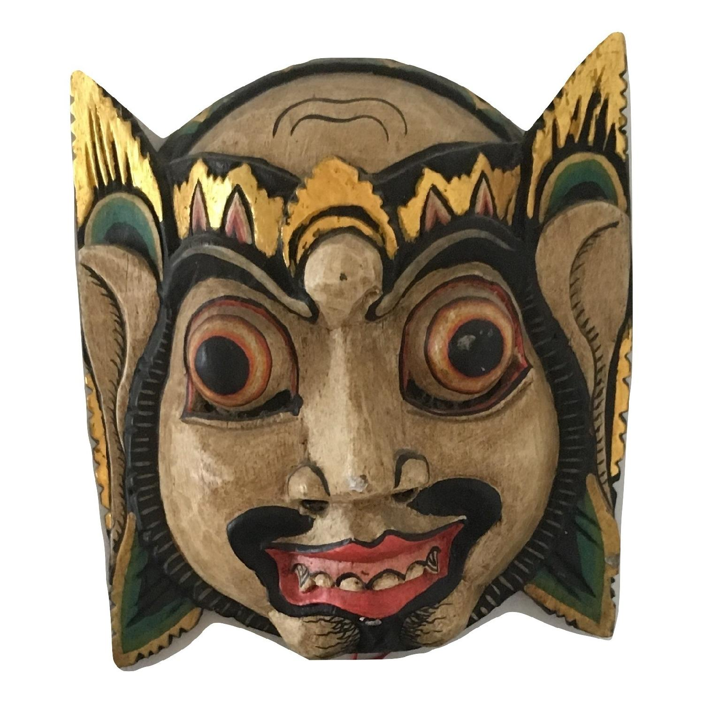 Vintage Wooden Barong Asian Mask-6