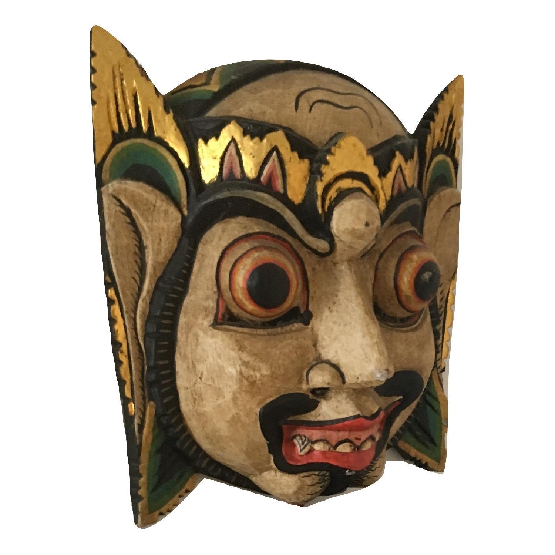 Vintage Wooden Barong Asian Mask-7