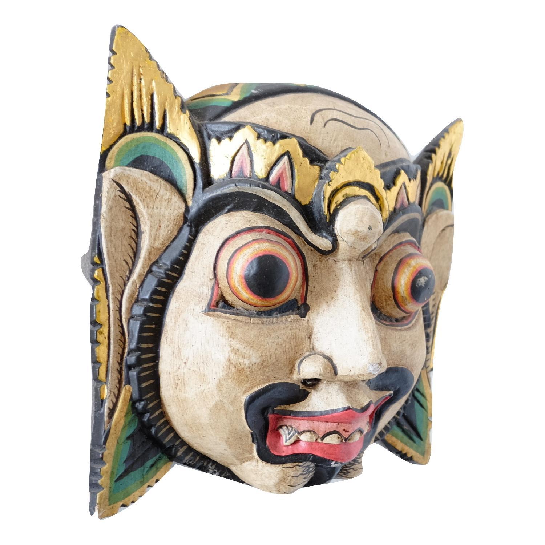 Vintage Wooden Barong Asian Mask-8