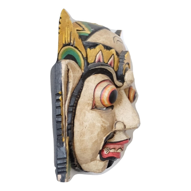 Vintage Wooden Barong Asian Mask-10