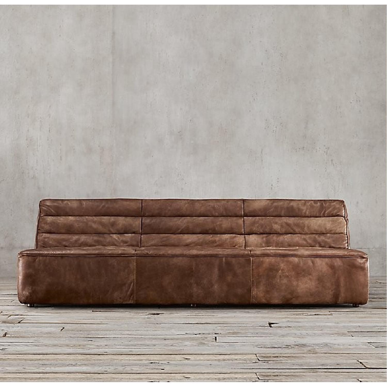 Restoration Hardware Chelsea Leather Sofa-3