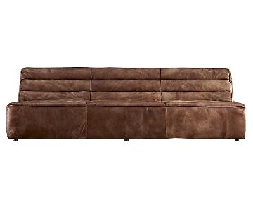 Restoration Hardware Chelsea Leather Sofa ...