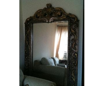 Floor Mirror w/ Beveled Glass