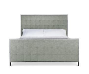 Bernhardt Tufted/Metal Queen Bed Frame