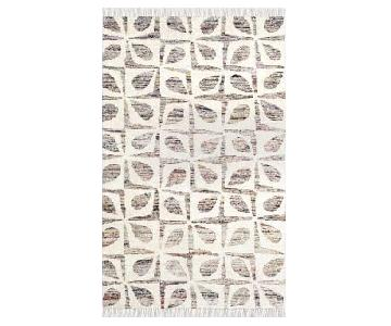 West Elm Recycled Sari Petal Grid Rug