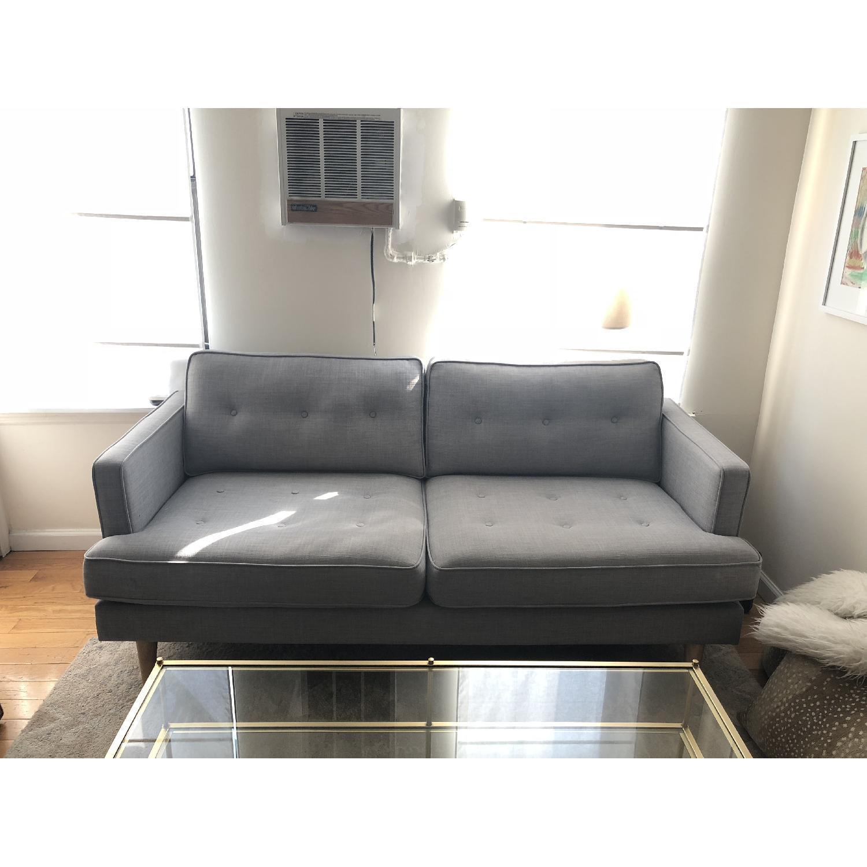 Gray Apartment Sized Sofa - AptDeco