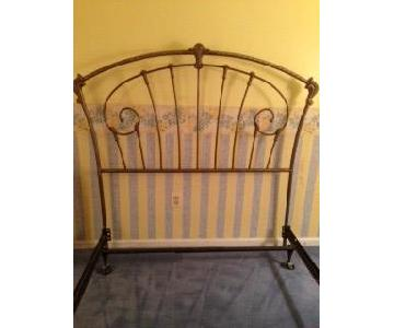 Sleepy's Wrought Iron Full Size Bed Frame w/ Headboard