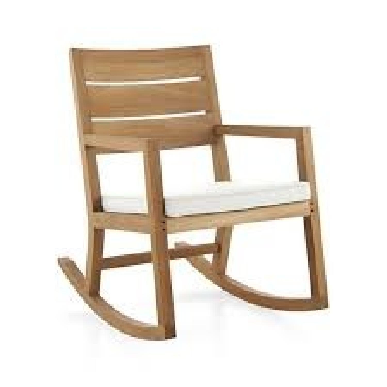 Crate U0026 Barrel Regatta Rocking Chair ...