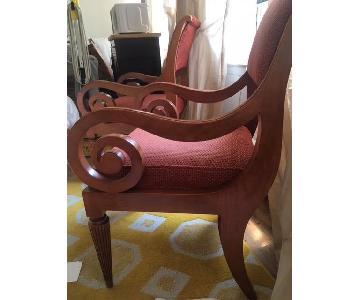Upholstered Arm Chairs w/ Woodwork