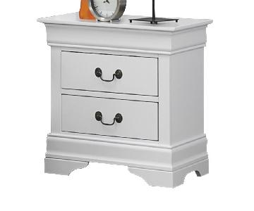 Louis Philippe Style Nightstand in White Finish
